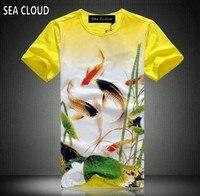 Free Shipping Summer Vintage Tshirt 5xl Plus Size Men S Clothing Male Short Sleeve T Shirt