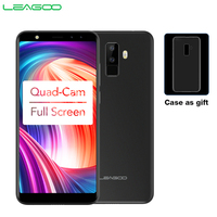 LEAGOO M9 3G Smartphone 5.5 18:9 Full Screen Four Cams Android 7.0 MT6580A Quad Core 2GB+16GB 2850mAh Fingerprint Mobile Phone