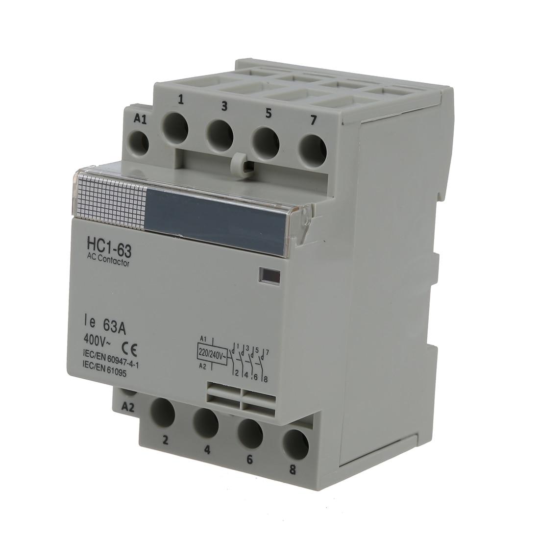 35mm DIN Soutien via AC400V 63A 4-pin Modulaire Ménage AC Contacteur