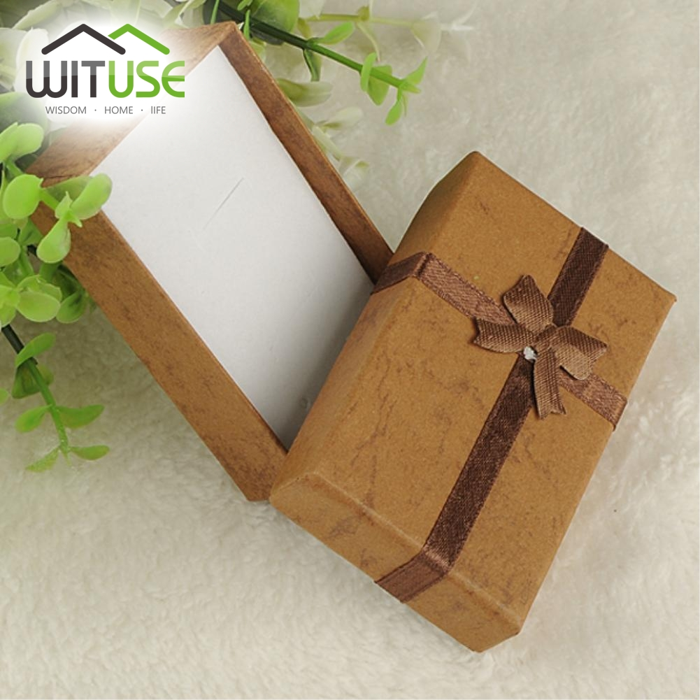 8X5X2.5cm / 4X4X3 CM Jewelry Box Multi Colors Earrings Necklace Rings Gift Box High Quality Paper Jewelry Packaging & Display