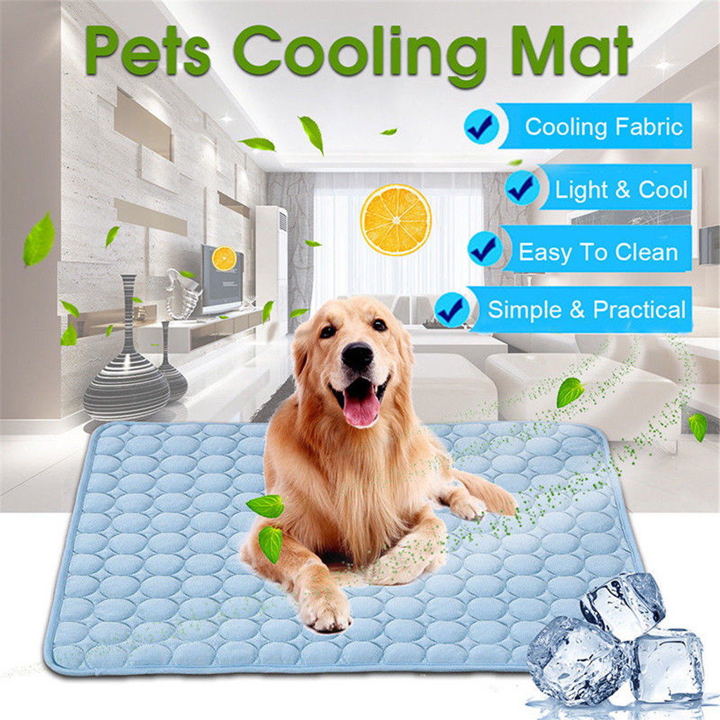 Dog Cooling Mat Pet Cat Chilly Non-Toxic Summer Cool Bed Pad Cushion Indoor High-quality materials Ice silk pad summer#81930 image
