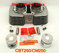 CA250/DD250/CB/CBT250/CM250 53 MM Kits de Cilindro Con Pistón Del Motor de la Motocicleta Y 15 MM Pin