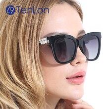 YYTZM Glasses Coloured Glaze Polarzied Sunglasses Women Brand Designer Fashion Sun Glasses de sol feminino eyewear UV400