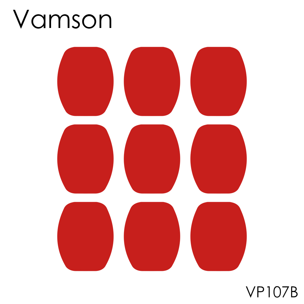 Vamson 9Pcs 3M Red Adhesive Sticker Double Faced Adhesive Tape For Gopro Hero5 4 3+ 2 For SJ4000 For Xiaomi For Yi  VP107B