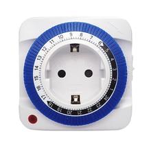 Штепсельная Вилка стандарта ЕС и США, энергосберегающее механическое защитное устройство для разъема для домашнего использования, 24 часа, интеллектуальное защитное устройство