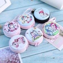 Nowe kobiety Kawaii Mini torba Cartoon jednorożec monety kiesy słodkie dzieci dzieci dziewczyny portfel słuchawki organizator Box torby prezent na boże narodzenie