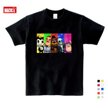 2019 Boys and Girls Game Hello Neighbor Pattern T Shirt Kids Casual Funny T-shirts Baby Summer Short Sleeve 3T-9T T-shirt