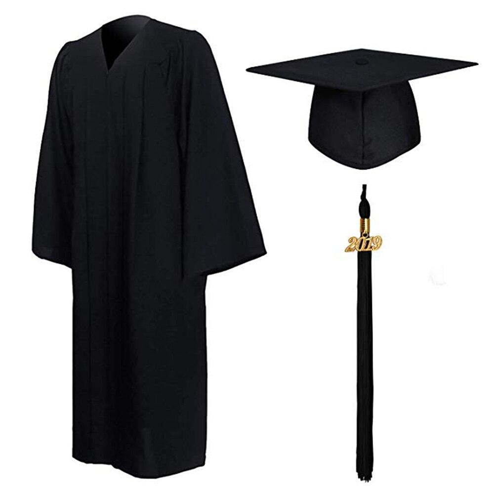 97299899d Nota de tamaño 2019 Unisex de manga larga Formal vestido de graduación de  borla de conjunto de los estudiantes de la escuela secundaria y la  Universidad de ...
