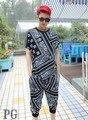 RHUDE Bandana LA KTZ Tyga Allover Paisley Print Hip Hop Suit (T-shirt and pant)