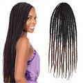 "24"" Synthetic Ombre Kanekalon Kinky Marley Twists Braiding hair  extensions jumbo braid hair  Box Braids Hair Kinky Twist Hair"