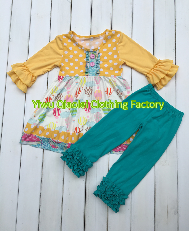 Wholesale children s boutique girl ballon design clothing remake outfits  with icing pants 6ddf9acd91