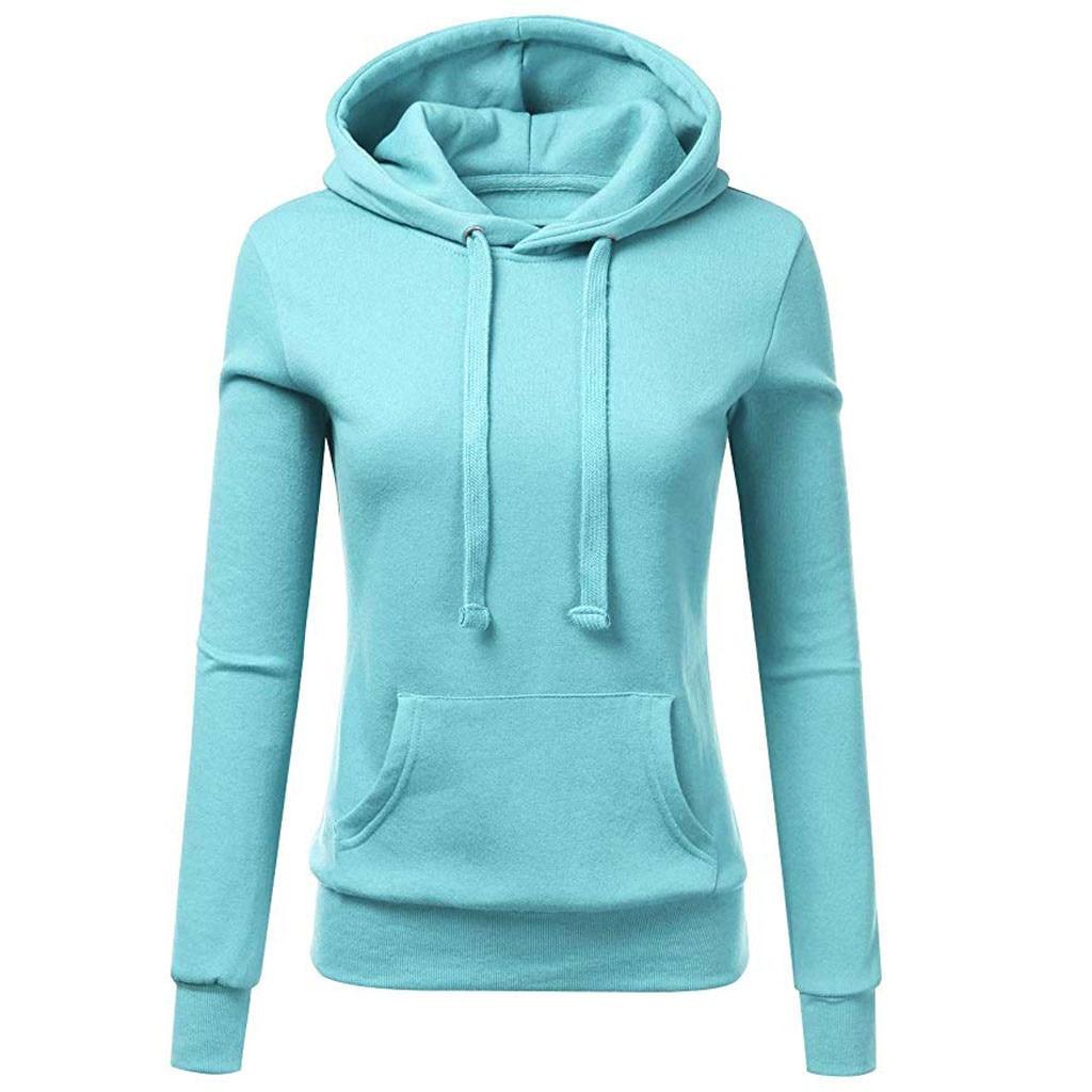 Hemden Symbol Der Marke Chamsgend Frauen Fashion Solid Farbe Zipper Langarm Mit Kapuze Pullover Lose Beiläufige Warme Sweatshirt Sport Training Hemd Sportbekleidung
