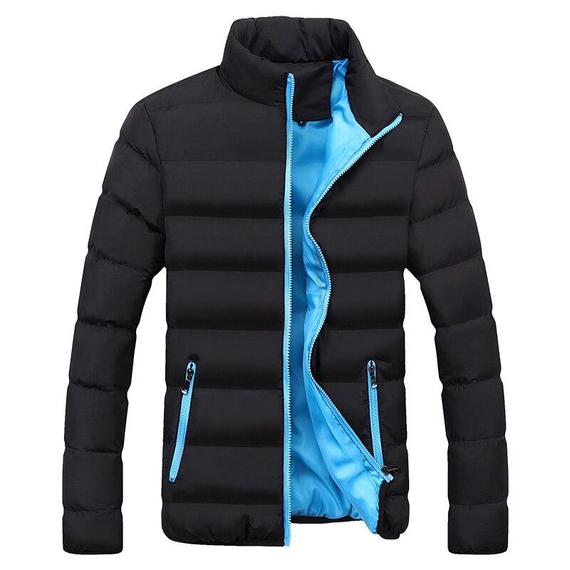 New Men's Windbreakers Solid Winter Jacket Men Casual Parkas Men Thermal Coats Slim Fit Thick Warm Men's Coat Brand Clothing 5XL