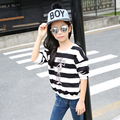 4 5 6 7 8 9 10 11 12 13t Girl T Shirt Long Sleeve Striped Casual T-shirt For Teenagers Baby Girls Children Clothing Autumn Wear