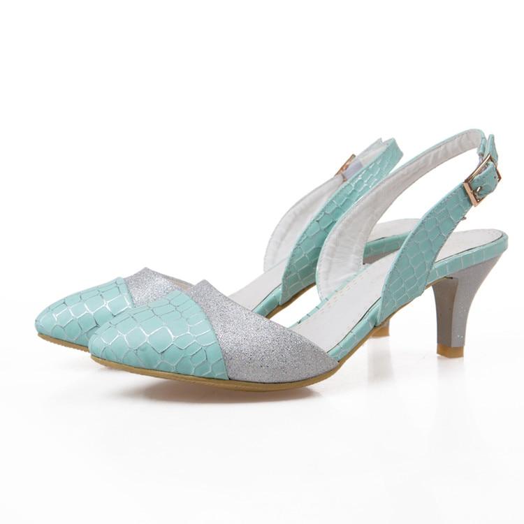2017 New Time-limited Medium(b,m) Fashion Sandals Women Big Size 34- 45 Sandals Ladies Lady Shoes High Heel Women Pumps T118