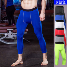 Bodybuilding Men Leggings Compression Pants Gyms Tights Sweat Pants For Men Joggers Trousers Calf Length Pants Fitness Leggings cheap Muscleguys Pencil Pants Polyester spandex Broadcloth Casual skinny Flat Lightweight Calf-Length Pants