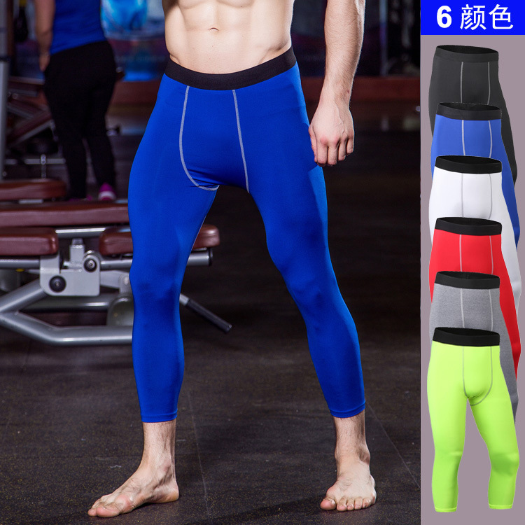 Bodybuilding Men Leggings Compression Pants Gyms Tights Sweat Pants For Men Joggers Trousers Calf Length Pants Fitness Leggings
