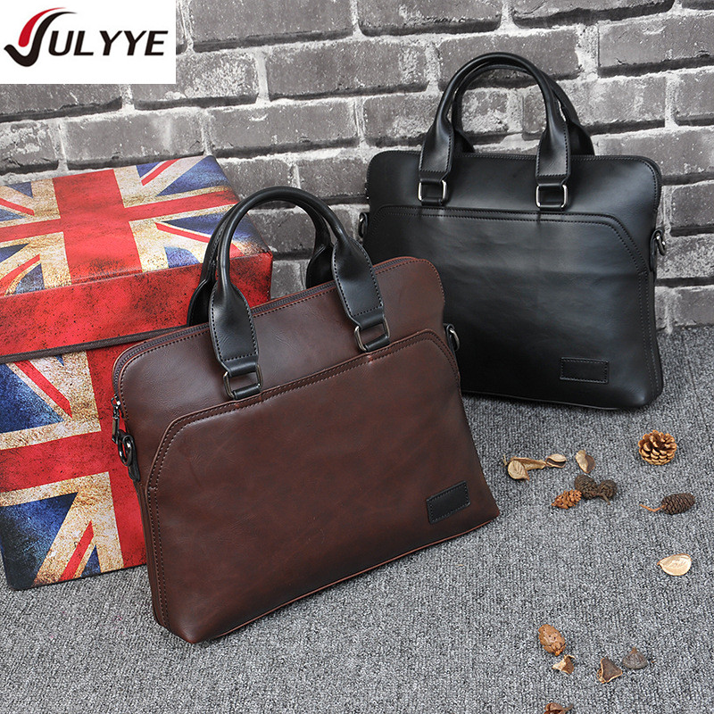 YULYYE New High Quality Men Leather Messenger Bags Computer Handbag Bag Men's Travel Bags Casual Briefcase Business Shoulder Bag new high quality male leather men laptop briefcase bag 14 inch computer bags handbag business bag single shoulder business bags