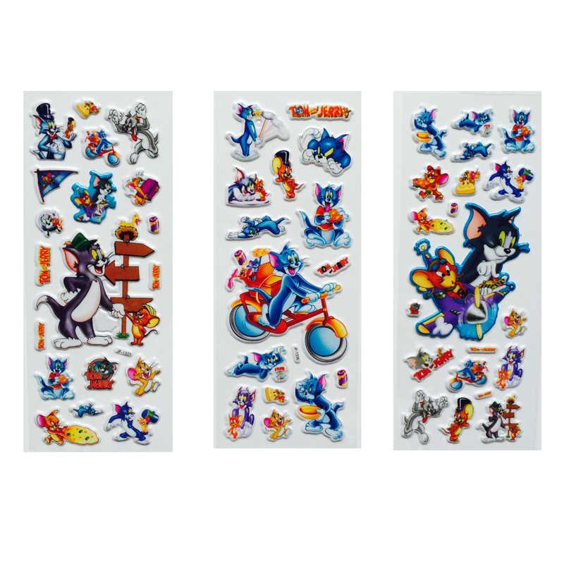 3 قطعة/الوحدة بارد فقاعة ملصقات 3D الكرتون التنين الكرة الماوس القط ملصقات اللعب الكلاسيكية القصاصات للأطفال الأطفال هدية