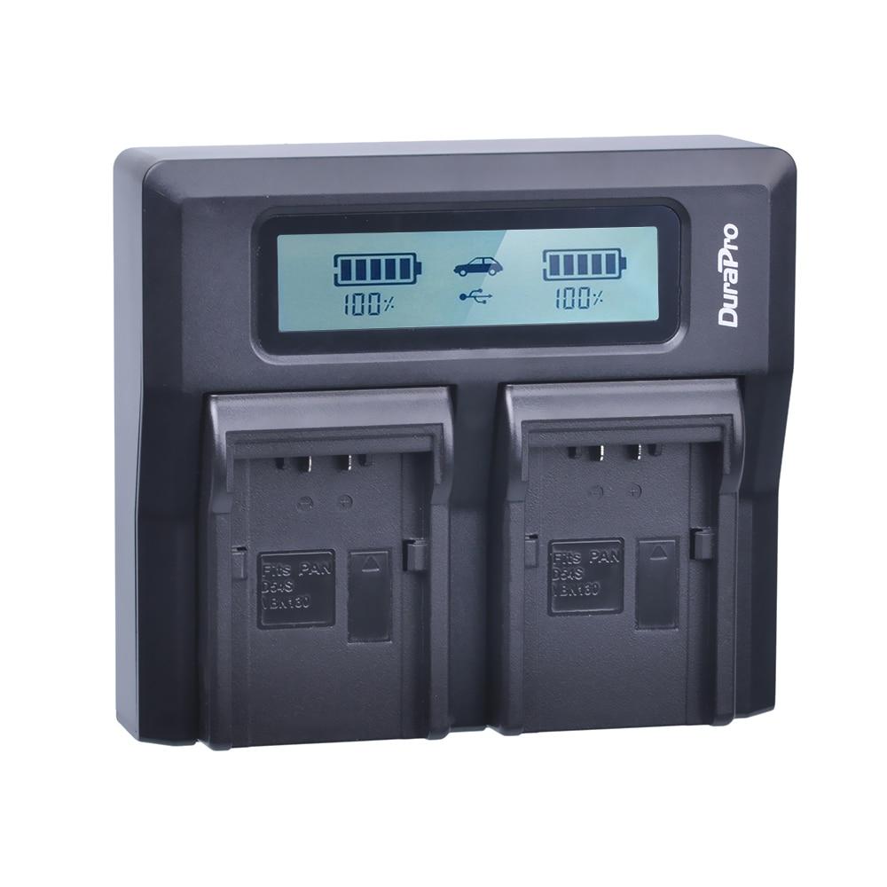 DuraPro CGR-D54 CGA-D54S VW-VBD55 CGR D54 LCD Dual Rapid Quick Charger for Panasonic AG-DVC60 AG-DVX100 AG-DVC30 AG-DVX100A