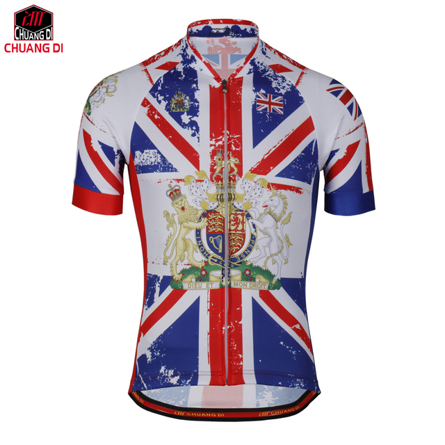 Summer Men s Great Britain State Flag cycling jerseys Short Uk National  Flag bike clothing bicycle wear ropa ciclismo d0c66c013