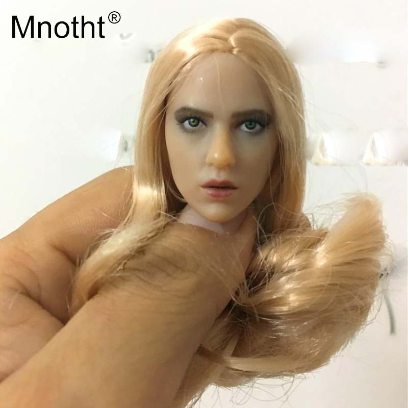 Mnotht Toys 1:6 Scale blond hair American Beauty Female Head Sculpt For 12in Action Figures Hobbies Collections m3