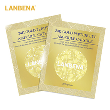 цена LANBENA 24K Gold Peptide Wrinkles Ampoule Capsule Facial Cream+ Eye Serum Anti-Aging Skin Whitening Moisturizing Face Care 60pcs