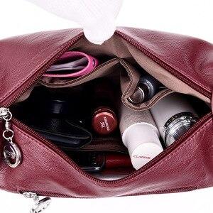 Image 5 - 高級ハンドバッグの女性のデザイナーソフトのレザーハンドバッグショルダーバッグ女性 2019 クロスボディバッグ嚢
