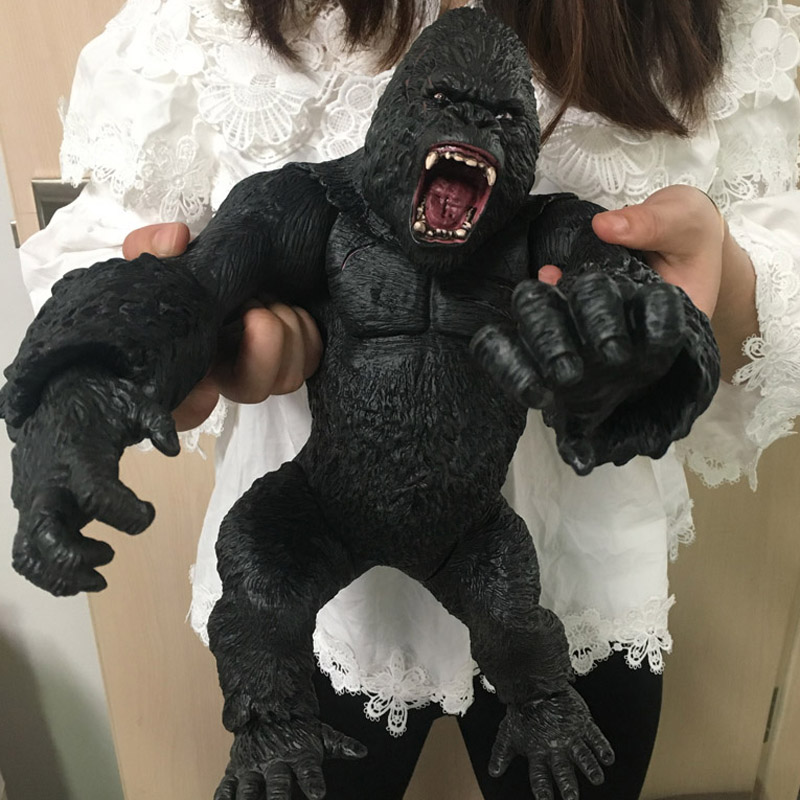Big Size 35cm King Kong Skull lsland Gorilla Monkey Joint movable PVC Figure Model Toys