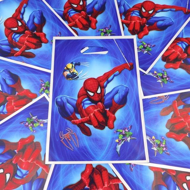 Spider Man Theme 100 Pcs Cadeaux Shopping Sacs Joyeux Anniversaire