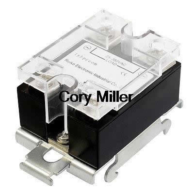 цена на SSR 25A 25-380VAC Output  Solid State Relay Module DIN Rail Mount