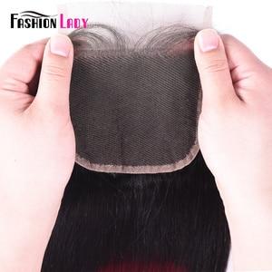 Image 5 - ファッション女性事前色のペルー人毛のレースの閉鎖オンブル T1B/99j 4 × 4 インチストレート織り閉鎖非レミー