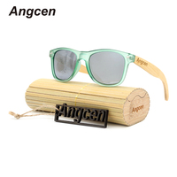 Angcen 2017 NEW Ms Packages Mailed 2016 Bamboo Wood Fashion Retro Polarizing Sunglasses By Hand PC