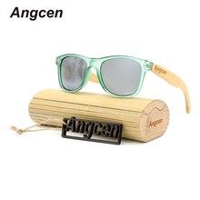 Angcen Glasses 2017 New Men Women Polarized uv400 Brand Designer Wooden Eyewear By Handmade Bamboo PC-Green Sunglasses
