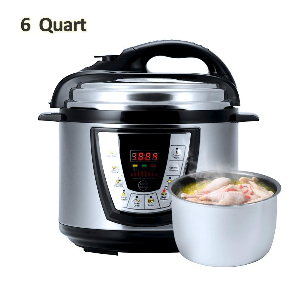 Aucma 6 Quart Electric Pressure Cookers Smart Cooking Programs Removable Non-stick Pressure Pot aucma aucma adk 1350h28 304 из нержавеющей стали автоматический электрочайник чайник воды набор для приготовления чая
