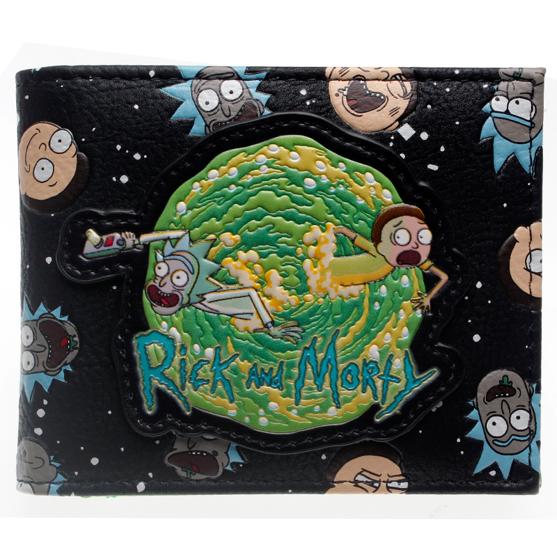 Rick and Morty PU Faux Leather Bifold Wallet DFT-10069 playstation console shaped bifold pu wallet dft 10101