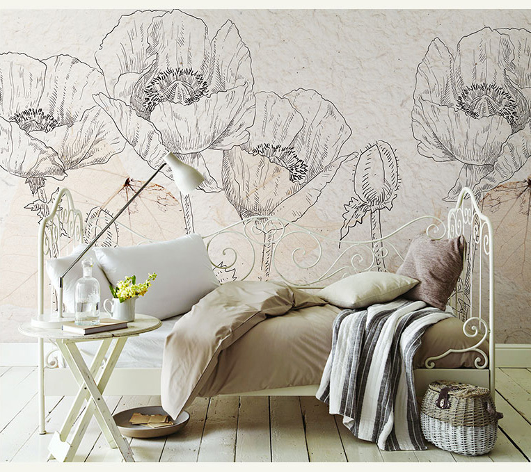 Hand-painted 3d Wall Murals Wallpaper Flower Background Photo Wall Mural Wall Paper Removable