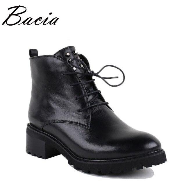 Bacia/ботильоны из натуральной кожи, ручной работы женский, черный на молнии круглый носок туфли на шнуровке Botas Короткие Плюшевые ботинки теплые зимние ботинки VB007