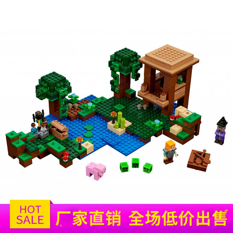 Model building kits compatible 21133 18027 my worlds MineCraft The Witch Hut Educational toys hobbies for children block уэллс г война миров the war of the worlds