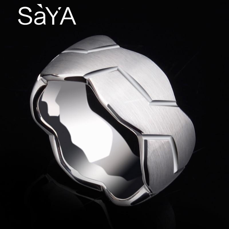Saya haute polie 8mm/10mm largeur hommes blanc carbure de tungstène anneau brossé infini noeud motif bande de mariage confort Fit 7-10