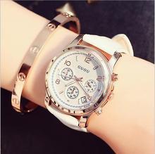 GUOU Top Luxury Auto Fecha Reloj de Las Mujeres Relojes A Prueba de agua Señoras Del Cuero Genuino Reloj de Señora Horas relogio feminino reloj mujer