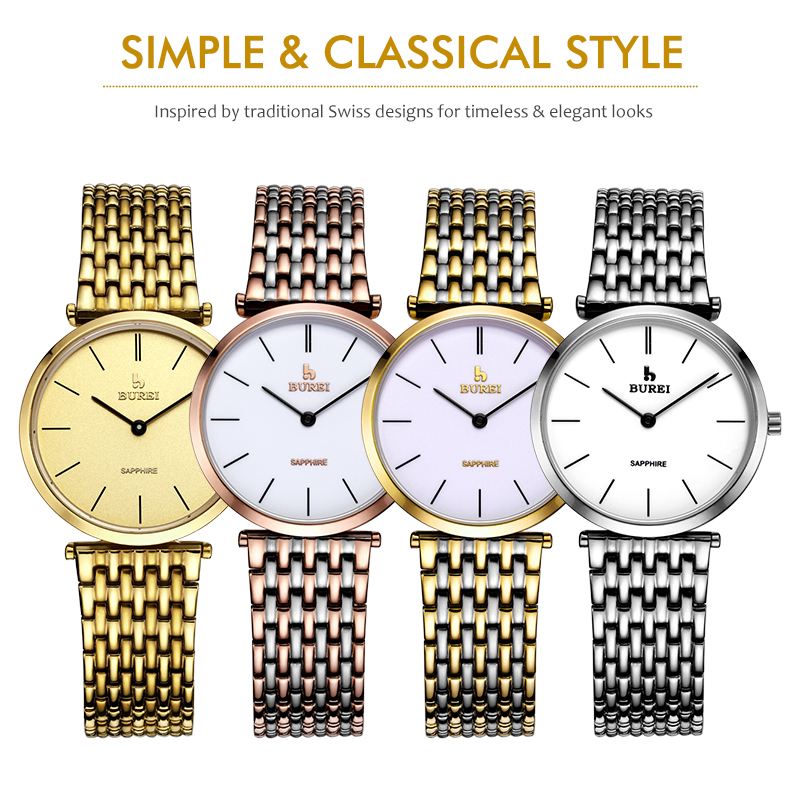 BUREI 3007 Switzerland watches La Grande Classique Couple Wristwatches Women Men Watches Lovers Luxury Brand Relogios Femininos стоимость