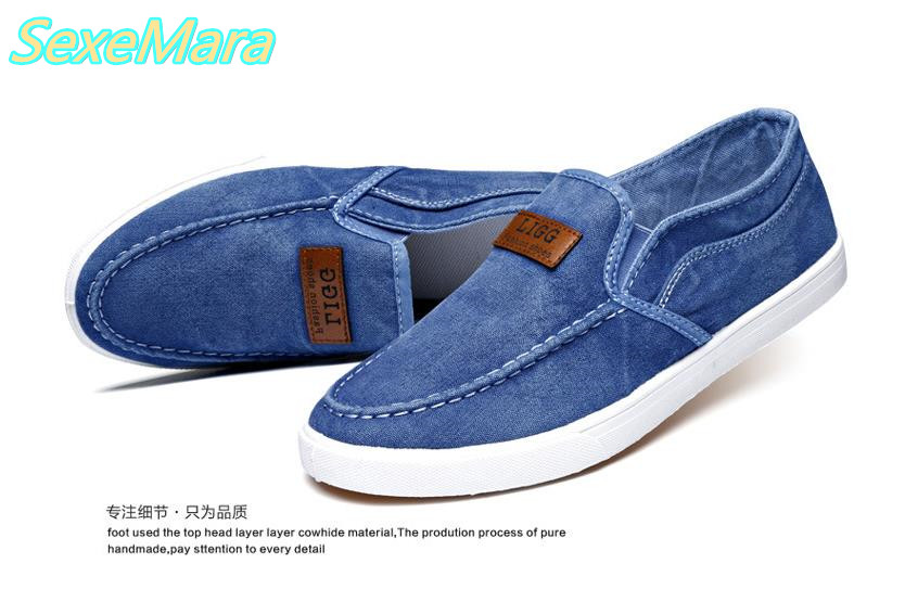 Fashion Men Flat Shoes Canvas Men's Flats Shoes Men, Daily Casual Shoes Male 2017 Spring Autumn Blue Men Shoes Zapatos Hombre 2016 spring autumn europe china style new tide men canvas casual shoes blue black letters print sewing elastic band flat shoes