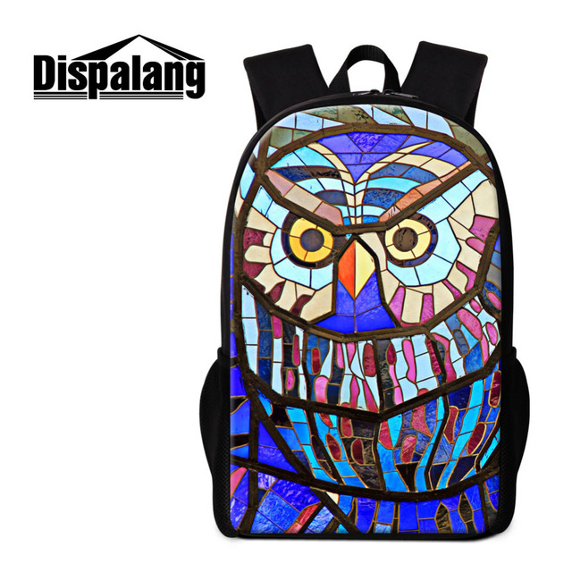 Dispalang Owl Casual Lightweight Backpacks for Men Women Geometry Print  School Bags For Teenagers Kids Book Bag Rucksack Mochila-in Backpacks from  Luggage ... 57d9342f87579