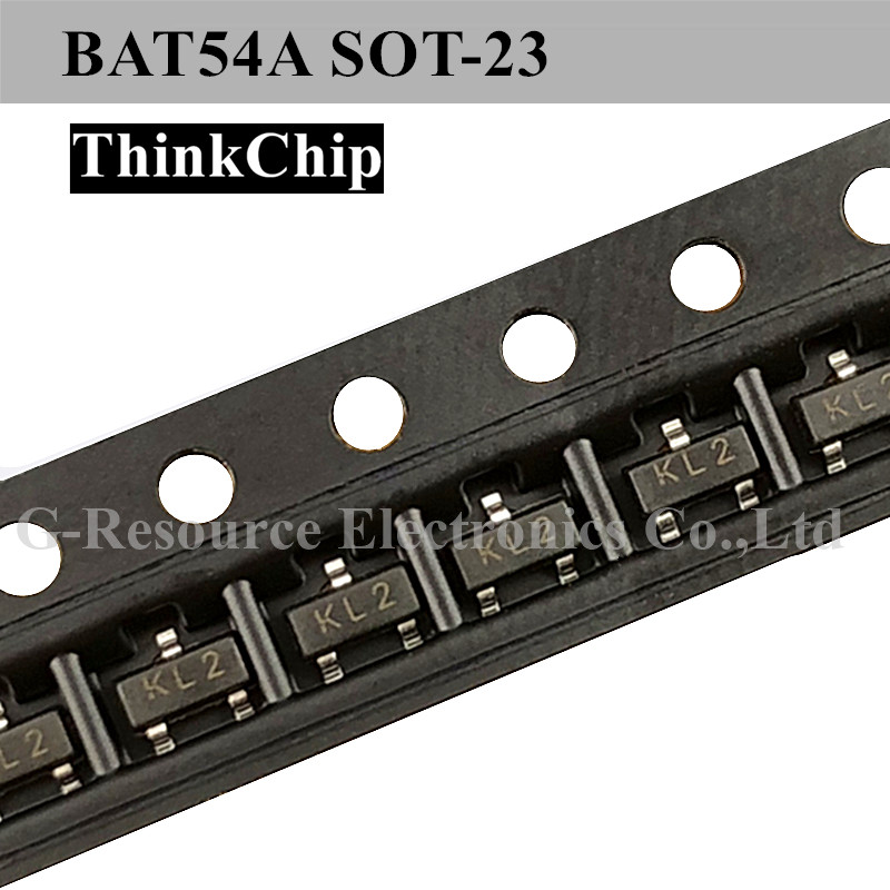 (100pcs) BAT54A SOT-23 Dual Common Anode Schottky Barrier Diode (Marking KL2)