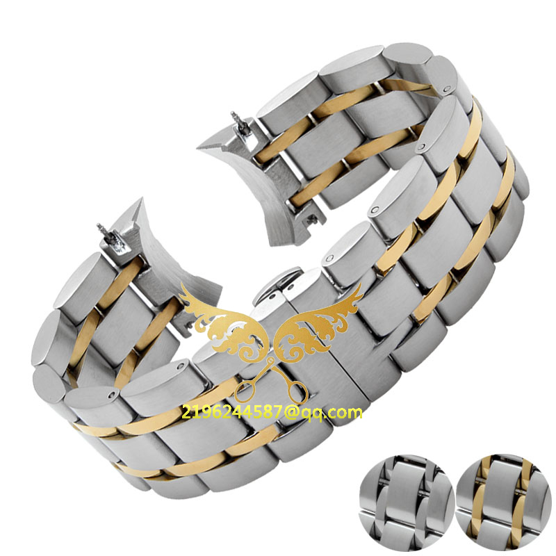 Watch Accessories 22mm 23mm 24mm New Mens Silver Solid Stainless Steel Watch Band Strap Bracelets For T-0-3-5 9mm 11mm 12mm watch accessories new high quality metal watch band strap bracelets
