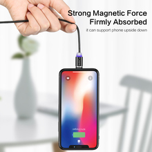 LED Magnetic Cable For Lightning Micro USB Type C Phone Cable For iPhone X Xr Xs Max 1m 2m 2A Fast Charge Magnet Charger