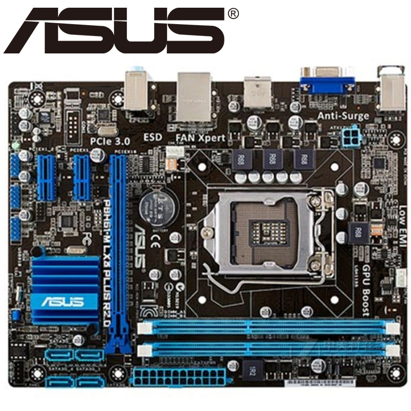 Asus P8H61-M LX3 PLUS R2.0 Desktop Motherboard H61 Socket LGA 1155 DDR3 Original Used