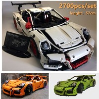 New Technic Porsche Super racing car fit legoings technic speed car model building kits blocks bricks toys boys birthday gift