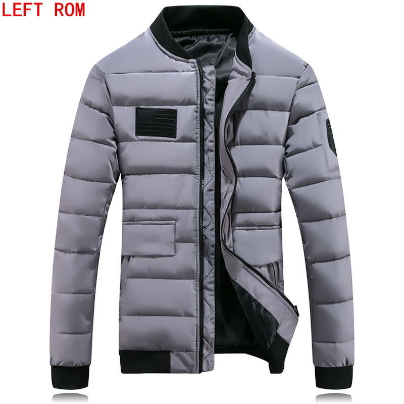 Winter Jacket Men 2017 Cotton Padded Warm thicken Short jacket coat Clothing Stand Colla ...